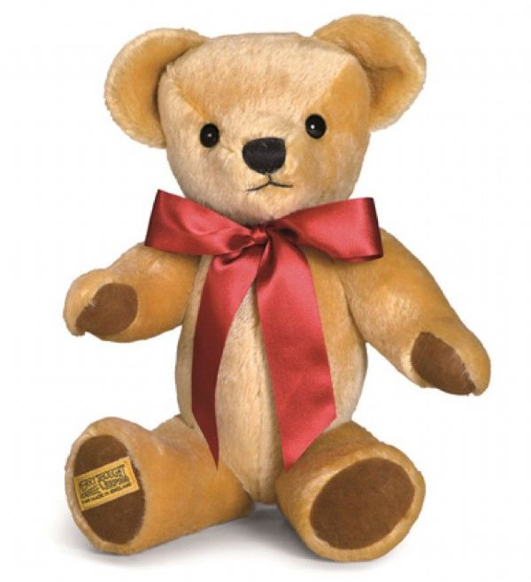 "Merrythought 18"" London gold mohair jointed Teddybear. GM18LGnG."